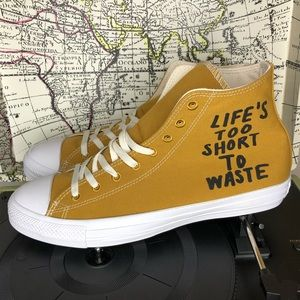 Converse life's to short to waste/wheat hi men's11